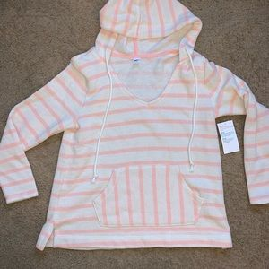 Stripped old navy Puncho